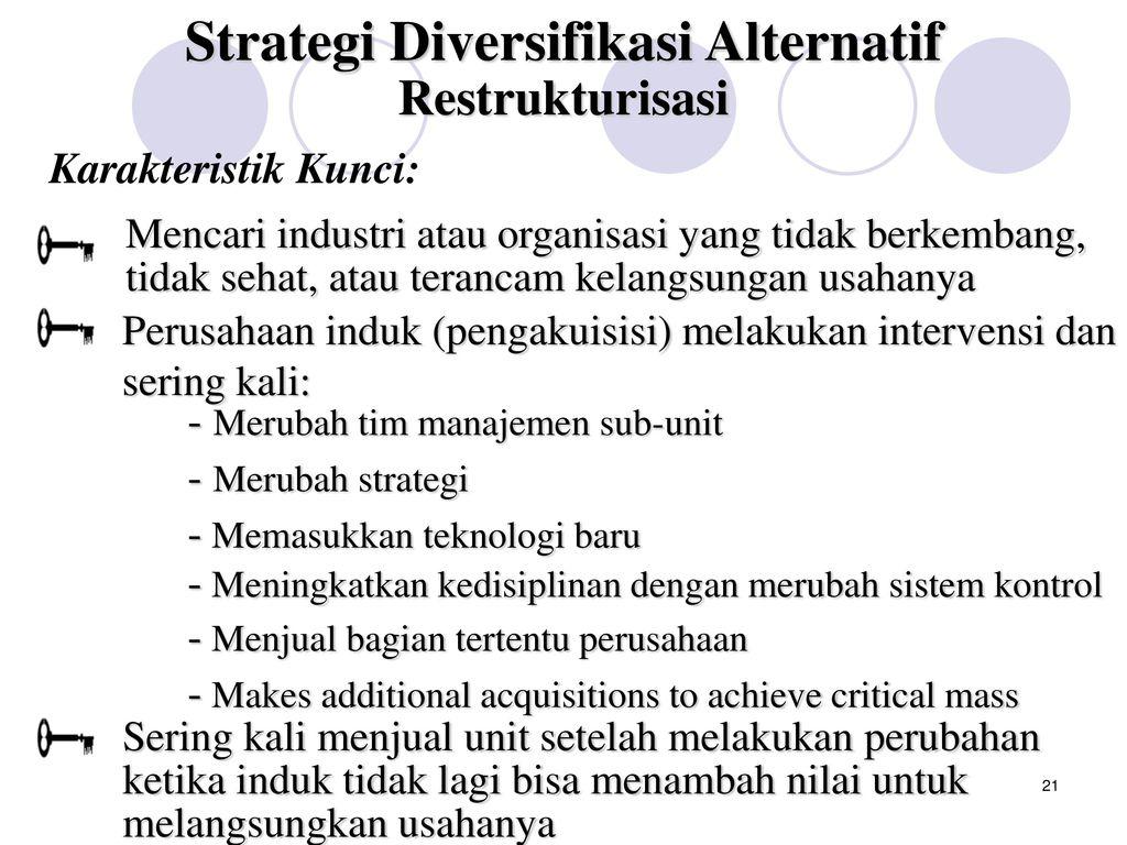 nilai strategi diversifikasi netral