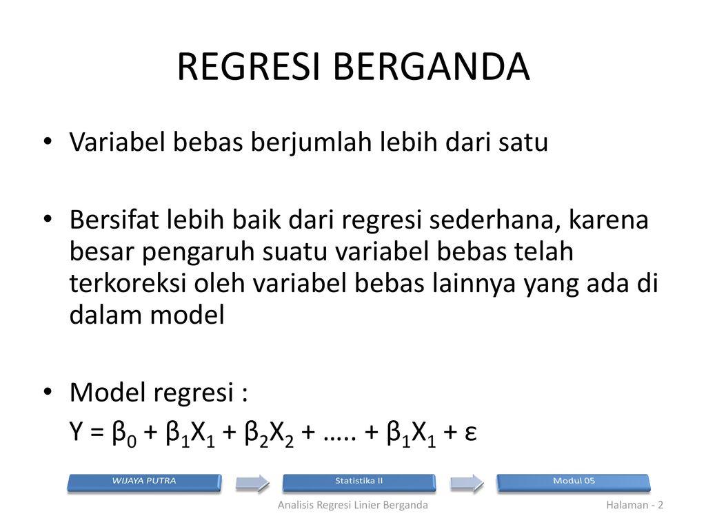 Analisis Regresi Linier Berganda Ppt Download