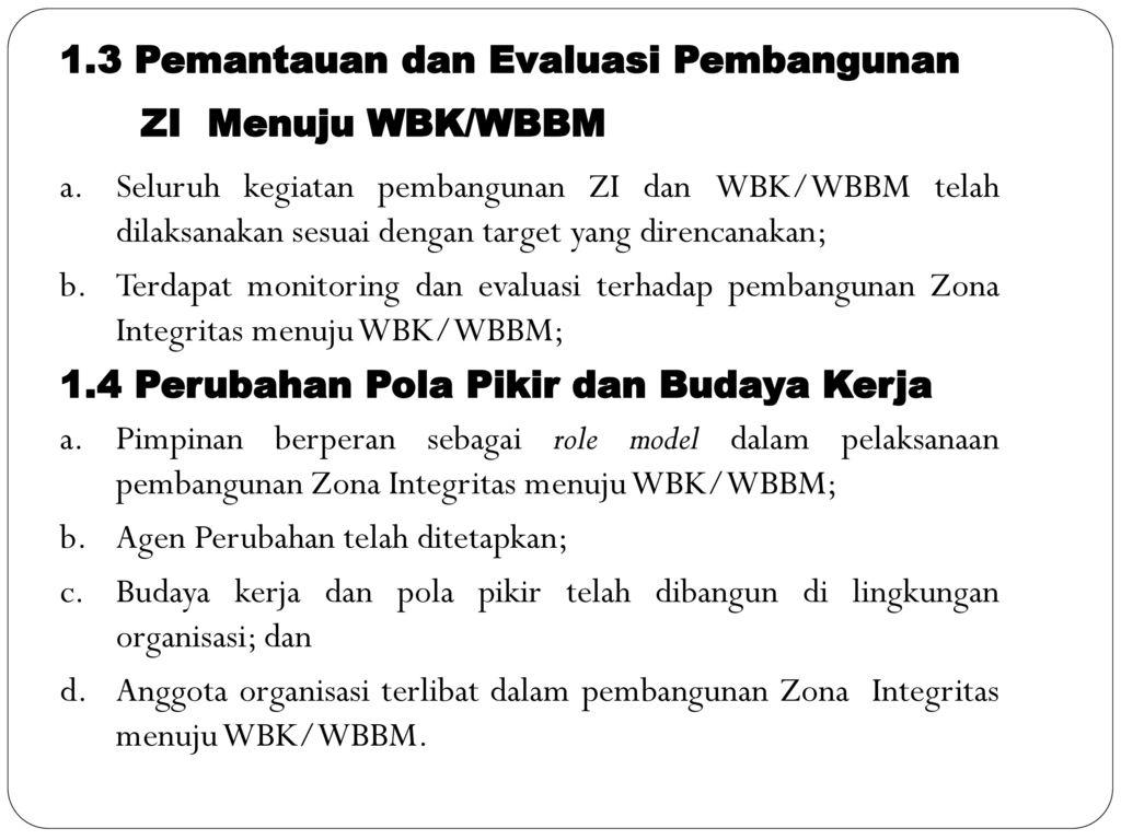 Membangun Zona Integritas Di Lingkungan Kementerian Agama Oleh H Ppt Download