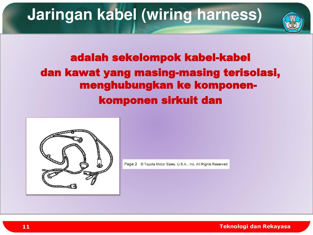 MELAKSANAKAN PERBAIKAN KELISTRIKAN BODI - ppt download on nakamichi harness, safety harness, fall protection harness, battery harness, radio harness, dog harness, obd0 to obd1 conversion harness, pet harness, pony harness, maxi-seal harness, suspension harness, electrical harness, cable harness, engine harness, alpine stereo harness, oxygen sensor extension harness, amp bypass harness,