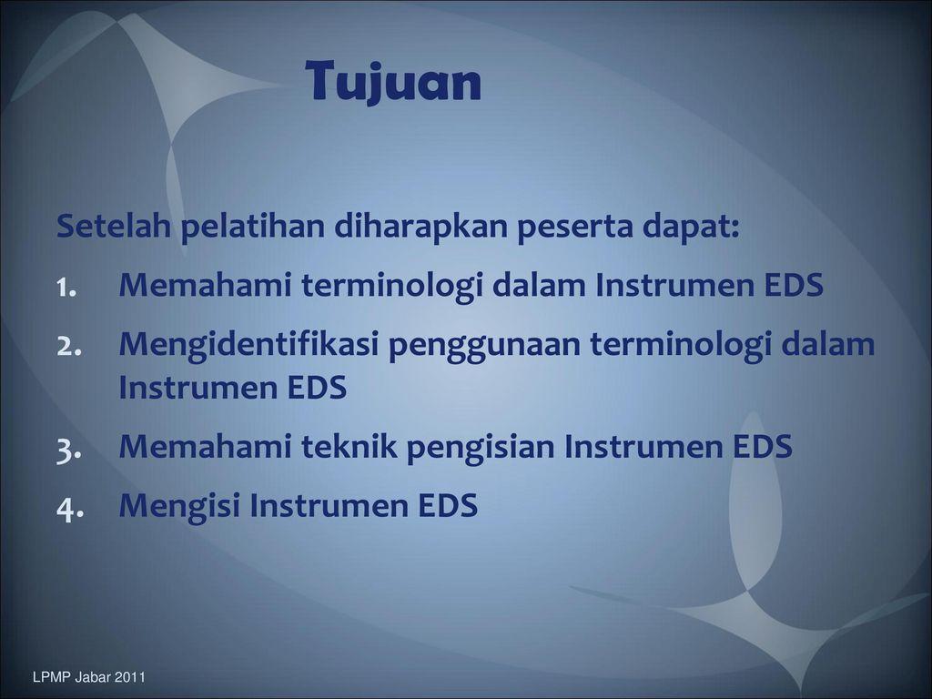 Simulasi Pengisian Instrumen Evaluasi Diri Sekolah Madrasah Eds M