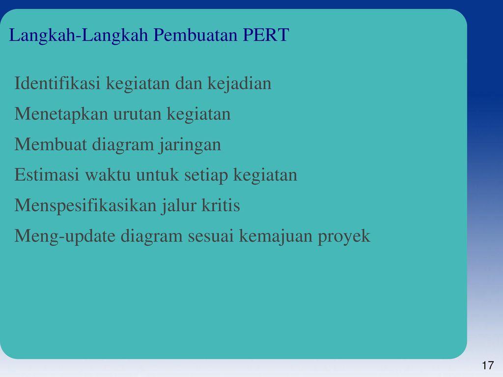 Perencanaan proyek ppt download langkah langkah pembuatan pert ccuart Image collections
