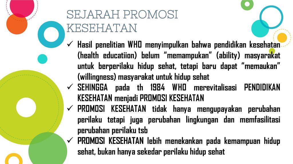 Konsep Dasar Promosi Kesehatan Oleh Nurul Aini Ppt Download