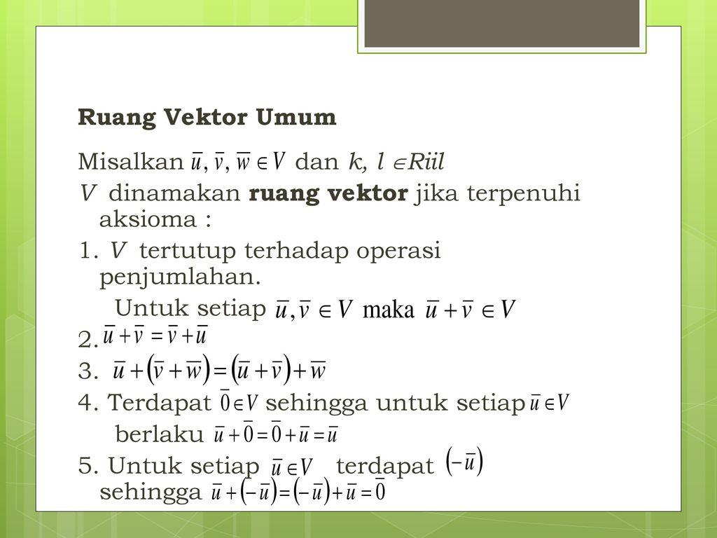 Ruang Euclides Dan Ruang Vektor Ppt Download