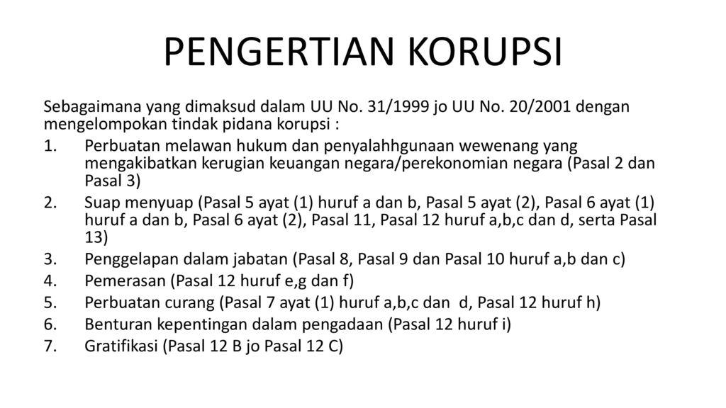 Pemberantasan Tindak Pidana Korupsi Ppt Download