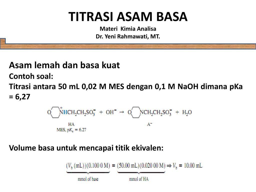 10 Contoh Soal Ph Titrasi Asam Basa Kumpulan Contoh Soal