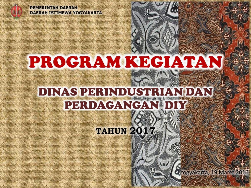 program dinas perdagangan