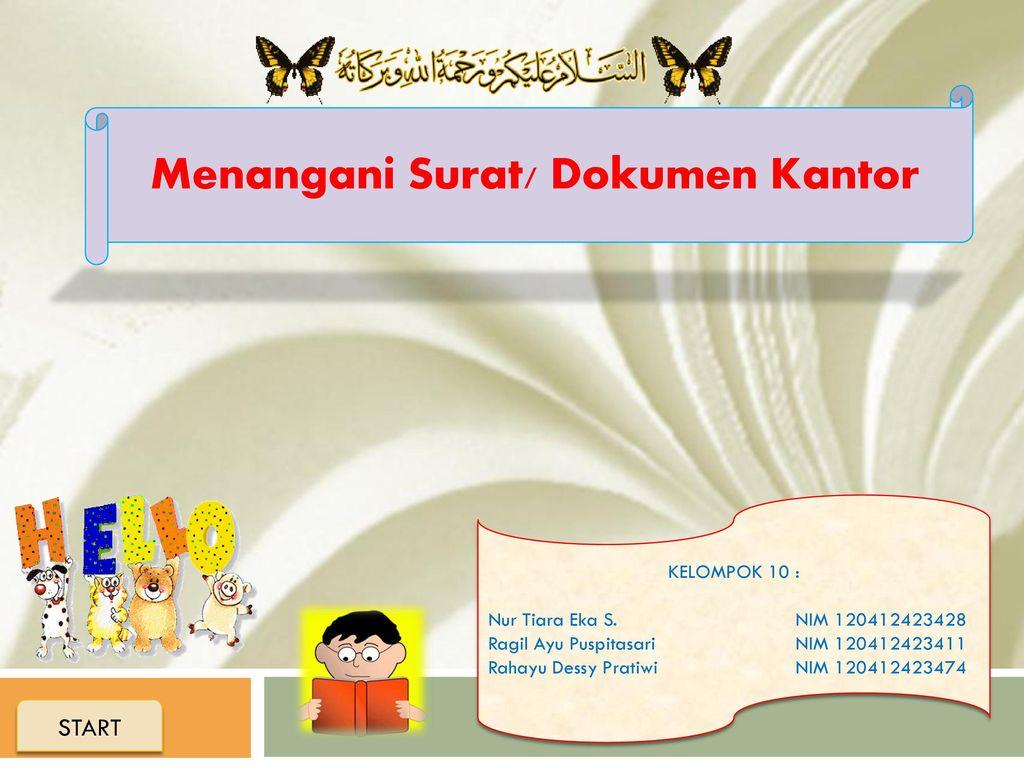 Menangani Surat Dokumen Kantor Ppt Download