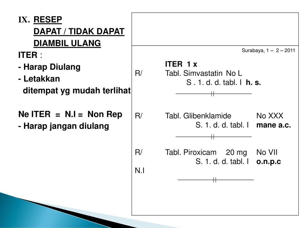 Farmakologi 3 Perihal Resep Dan Singkatan Latin Ppt Download