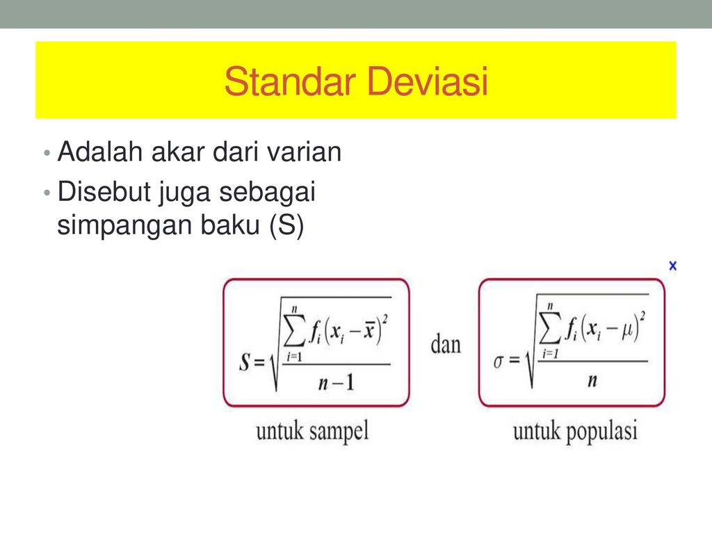 Penyajian data ns eed stikes whs ppt download 41 standar deviasi ccuart Choice Image