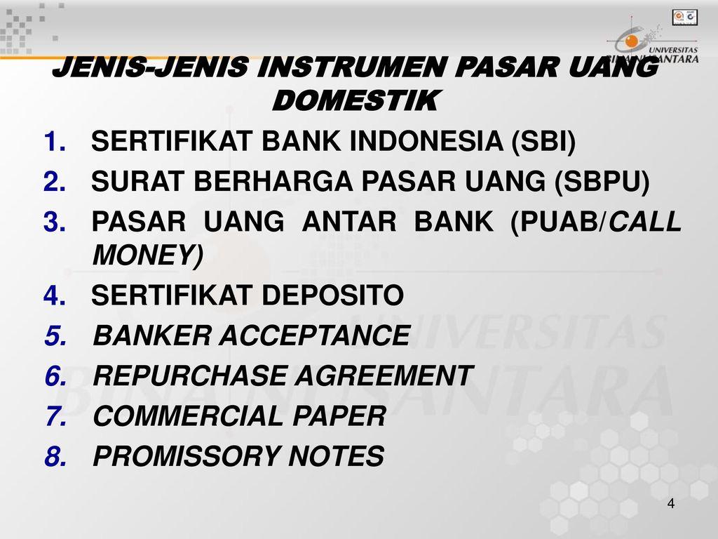 Pertemuan 5 Pasar Uang Domestik Ppt Download