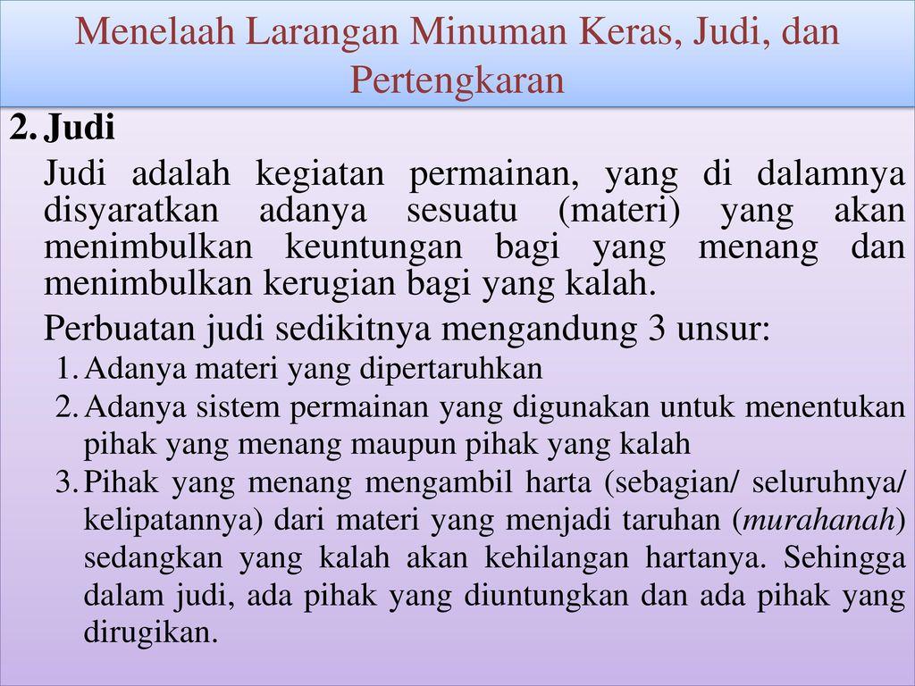 Menelaah+Larangan+Minuman+Keras%2C+Judi%2C+dan+Pertengkaran - Jenis Jenis Judi Menurut Islam