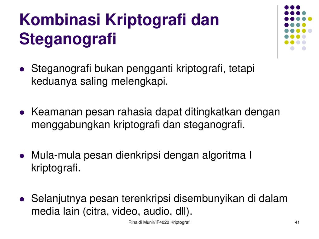 Bahan Kuliah If4020 Kriptografi Oleh Rinaldi Munir Ppt Download