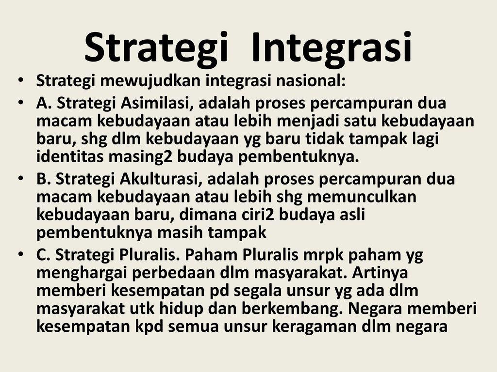 Bab Ix Integrasi Nasional Ppt Download