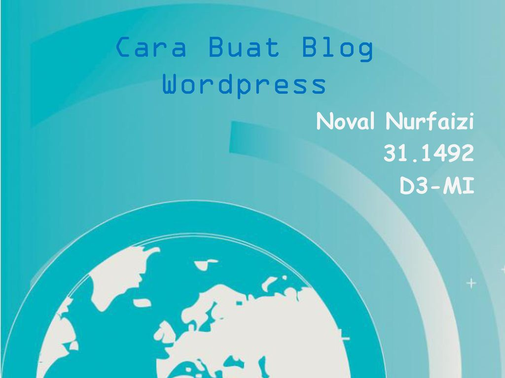 buat blog wordpress