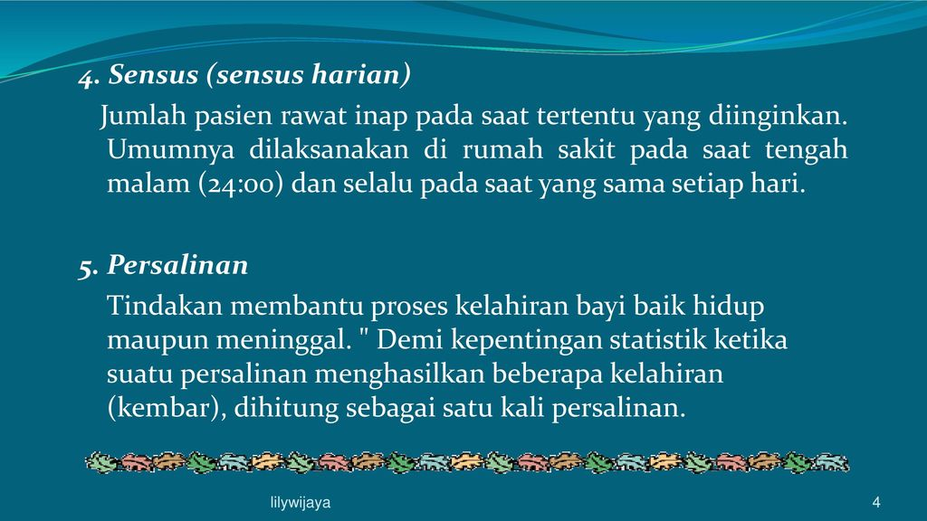 Glossary Istilah Statistik Rs Ppt Download