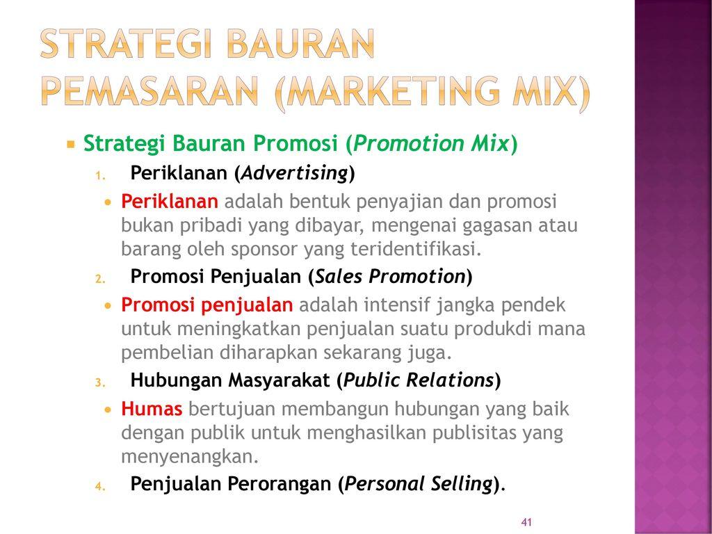 promotion mix adalah
