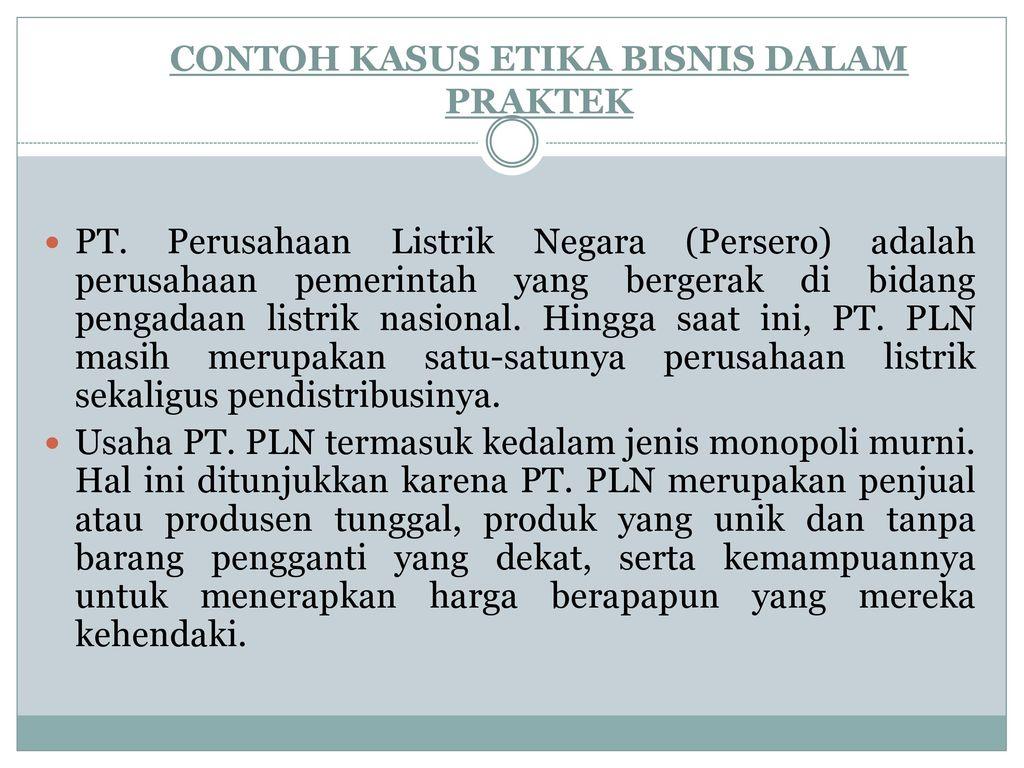 Etika Bisnis H Amrin Mulia Un Ppt Download