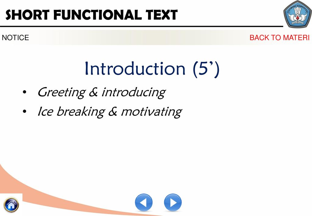 Short functional texts 1 ppt download 6 introduction 5 greeting m4hsunfo
