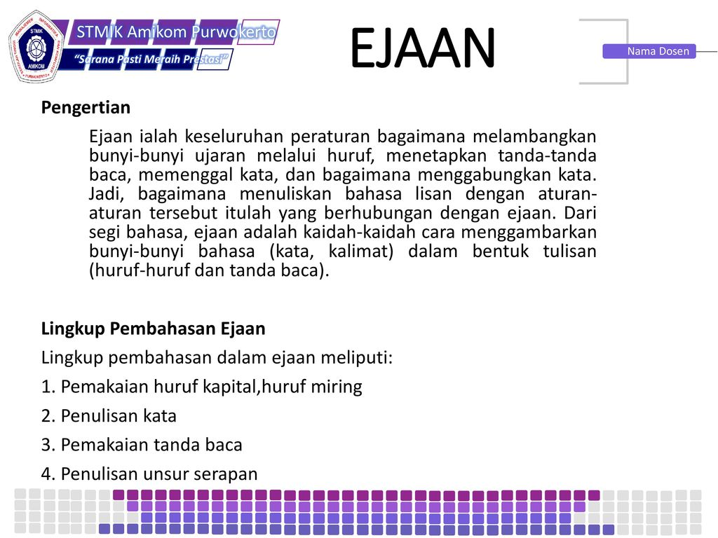 Ejaan Bahasa Indonesia Ppt Download