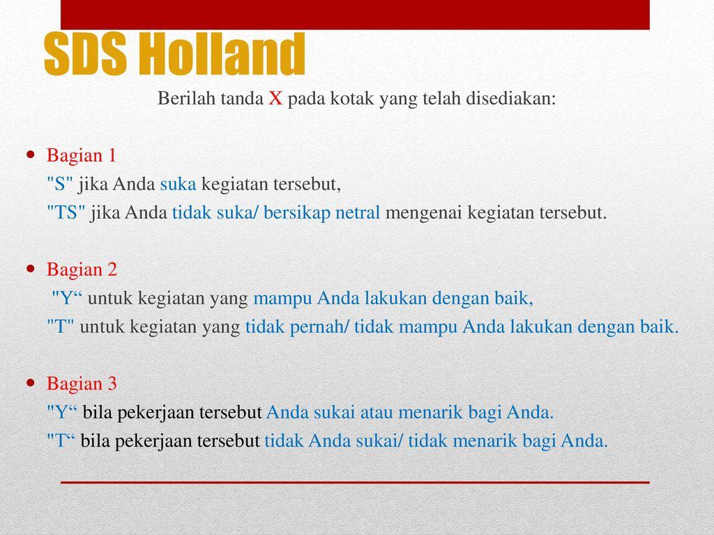 SDS Holland – John Holland - ppt download