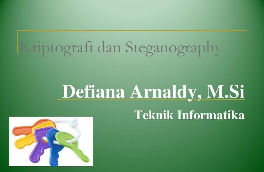 Kriptografi Dan Steganography Ppt Download