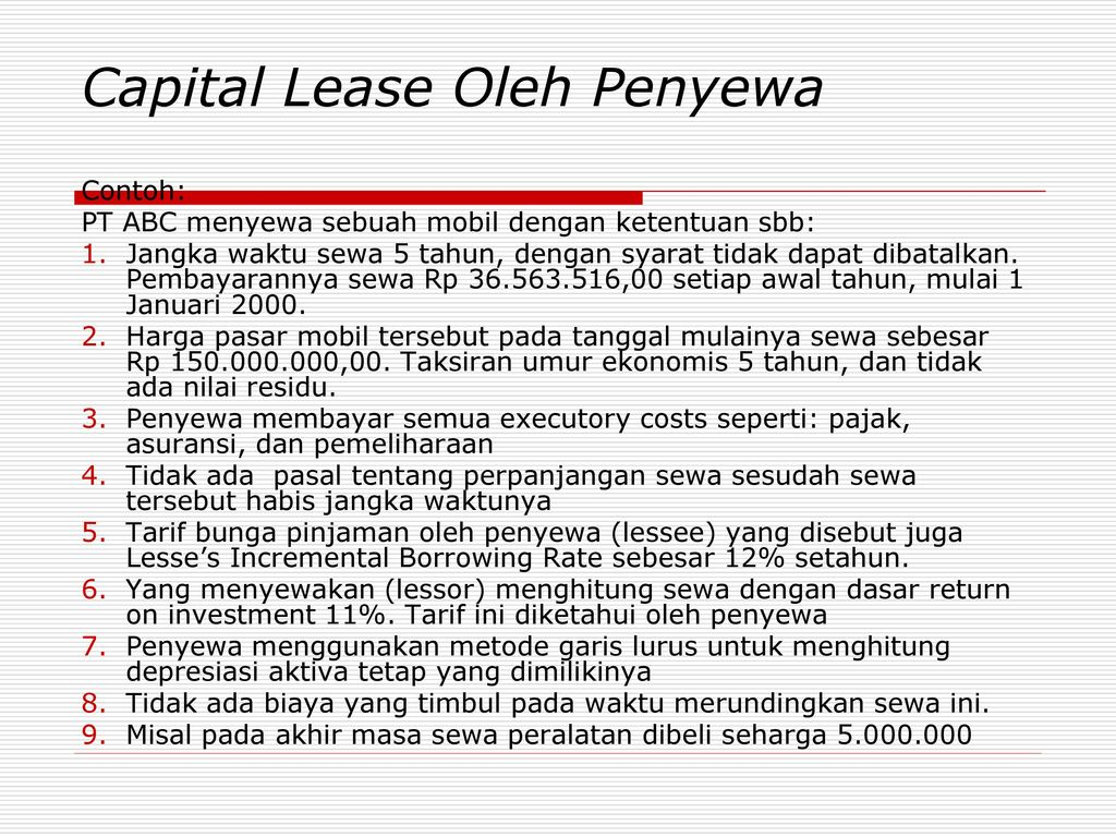 contoh finance lease