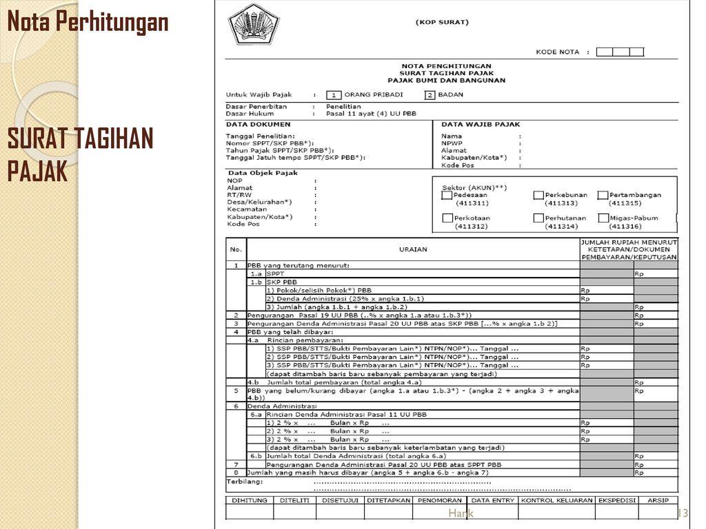 Surat Ketetapan Pajak Dan Surat Tagihan Pajak Ppt Download