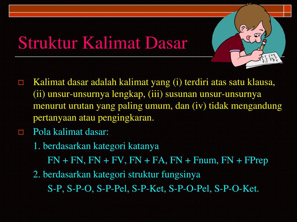 TATA KALIMAT BAHASA INDONESIA SINTAKSIS   ppt download