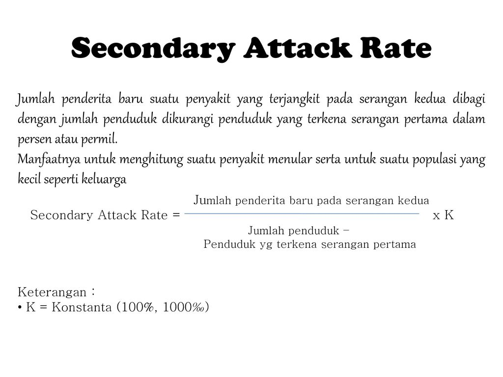Secondary Attack Rate