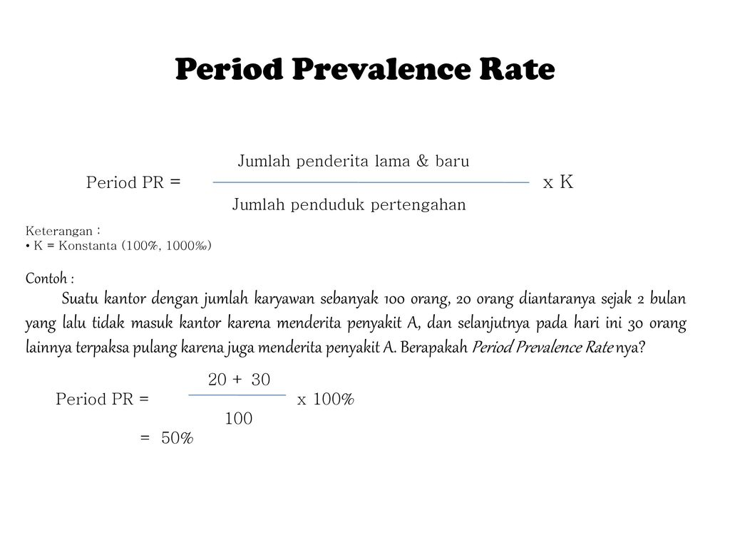 Period Prevalence Rate