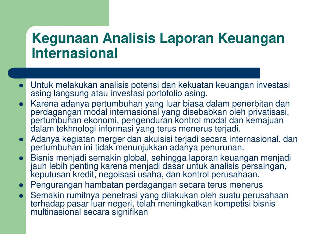 Analisis Laporan Keuangan Internasional Ppt Download