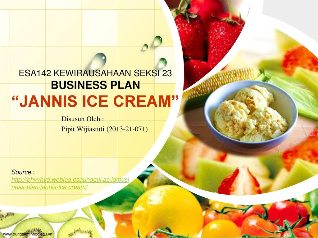 Esa142 Kewirausahaan Seksi 23 Business Plan Jannis Ice Cream Ppt Download