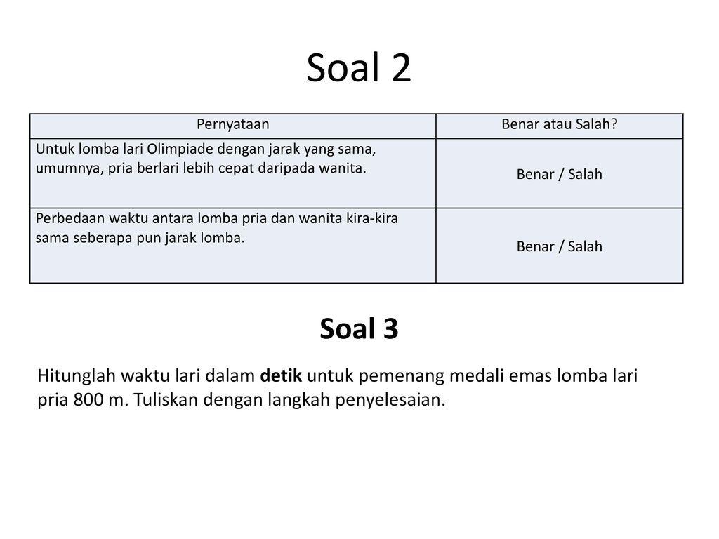 Contoh Soal Benar Salah Contoh Soal Dan Materi Pelajaran 1