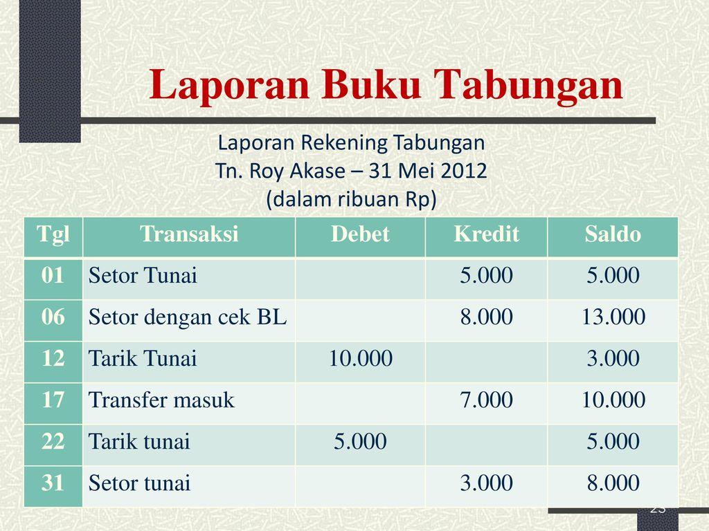 Akuntansi Sumber Dana Tabungan Ppt Download