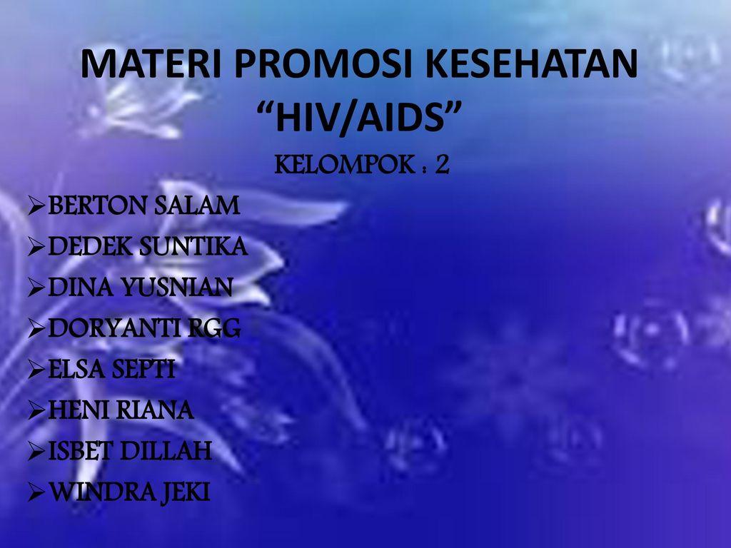 Materi Promosi Kesehatan Hiv Aids Ppt Download