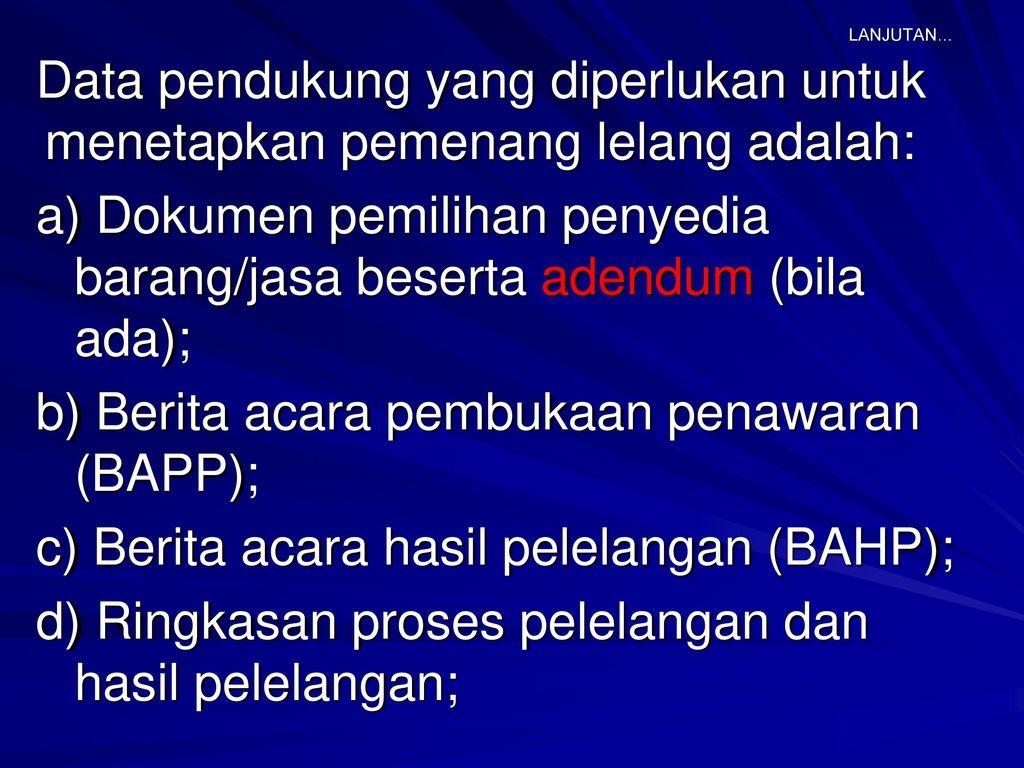 Perjanjian Kontrak Lkpp Ppt Download