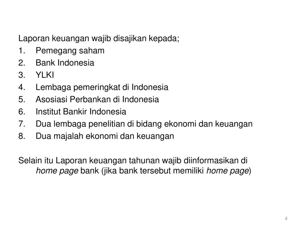 Laporan Keuangan Dan Kinerja Bank Ppt Download