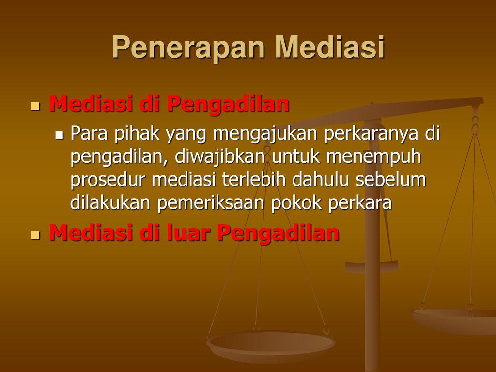 Mediasi Ppt Download