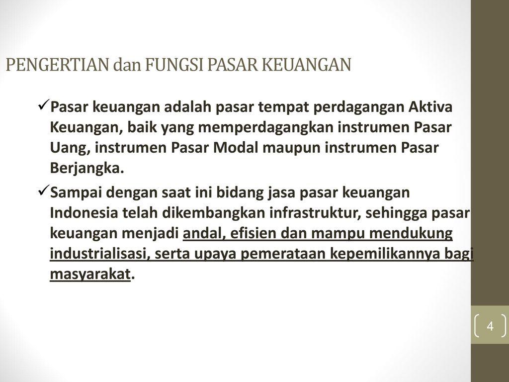 PASAR KEUANGAN (FINANCIAL MARKET)