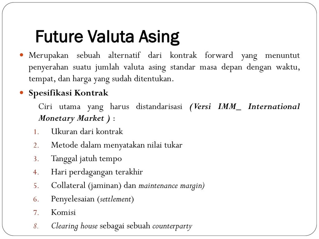 PASAR FUTURES DAN OPTIONS - ppt download