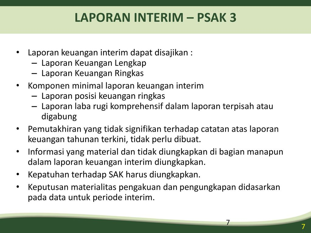 Laporan Interim Interim Report Ppt Download