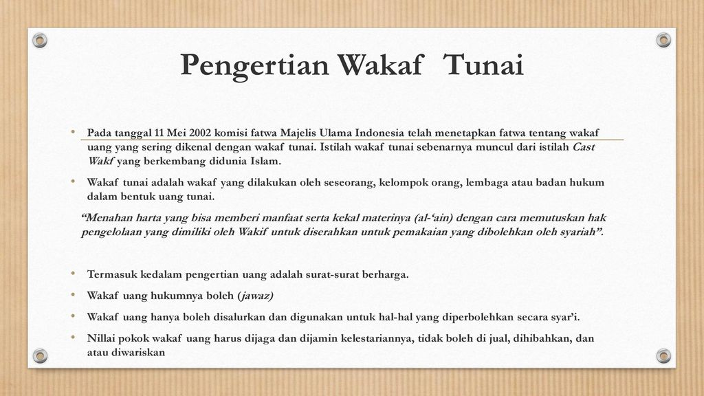 Wakaf Tunai Rizki Fardila Iin Hidayati Winda Qomariyah Susi Rahmawati Ppt Download