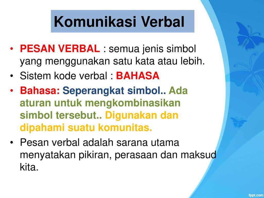 Komunikasi Verbal Dan Non Verbal Ppt Download
