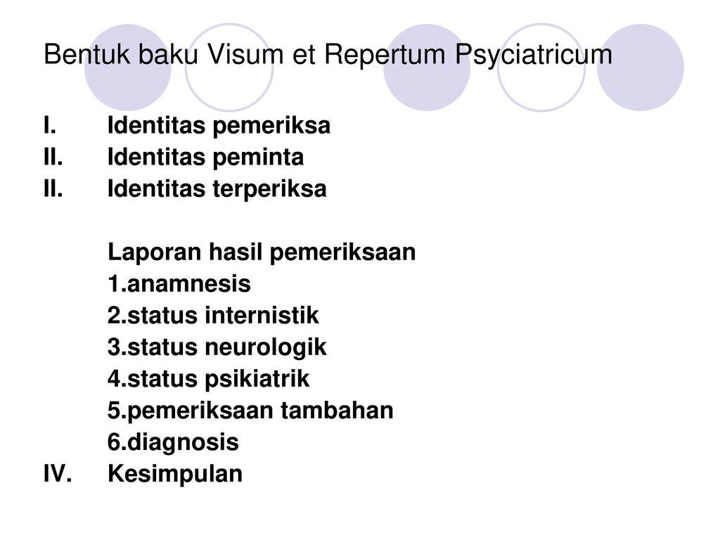 Visum Et Repertum Psychiatricum Ppt Download