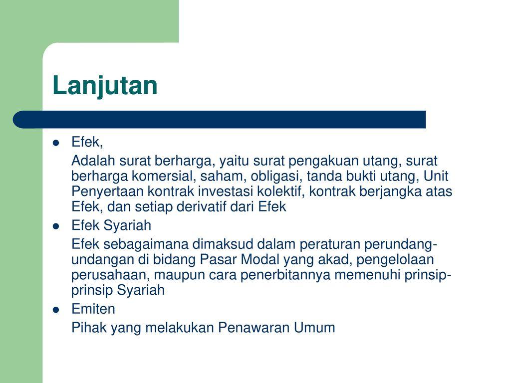 Prinsip Syariah Dipasar Modal Ppt Download