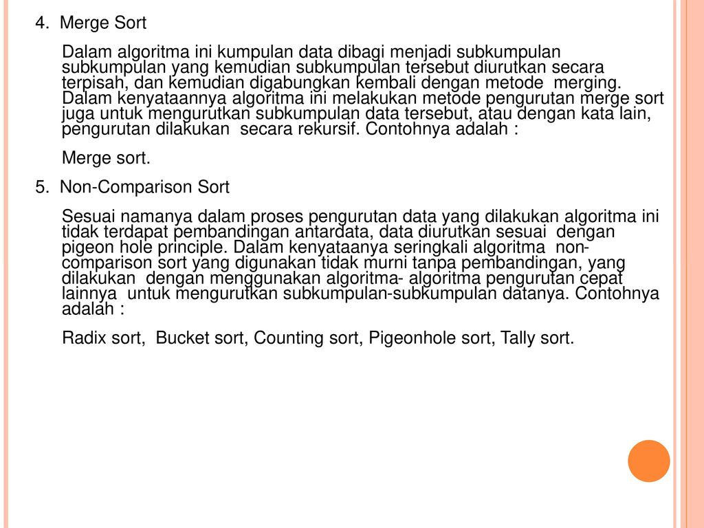 Comparison Sort Adalah