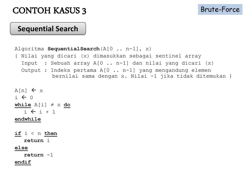 Materi Perkuliahan Analisis Algoritma Ppt Download