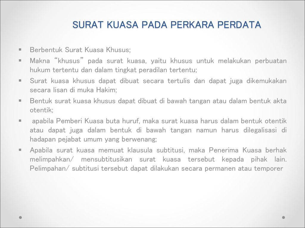 Hukum Acara Perdata Oleh Rahmanu Wijaya Ppt Download