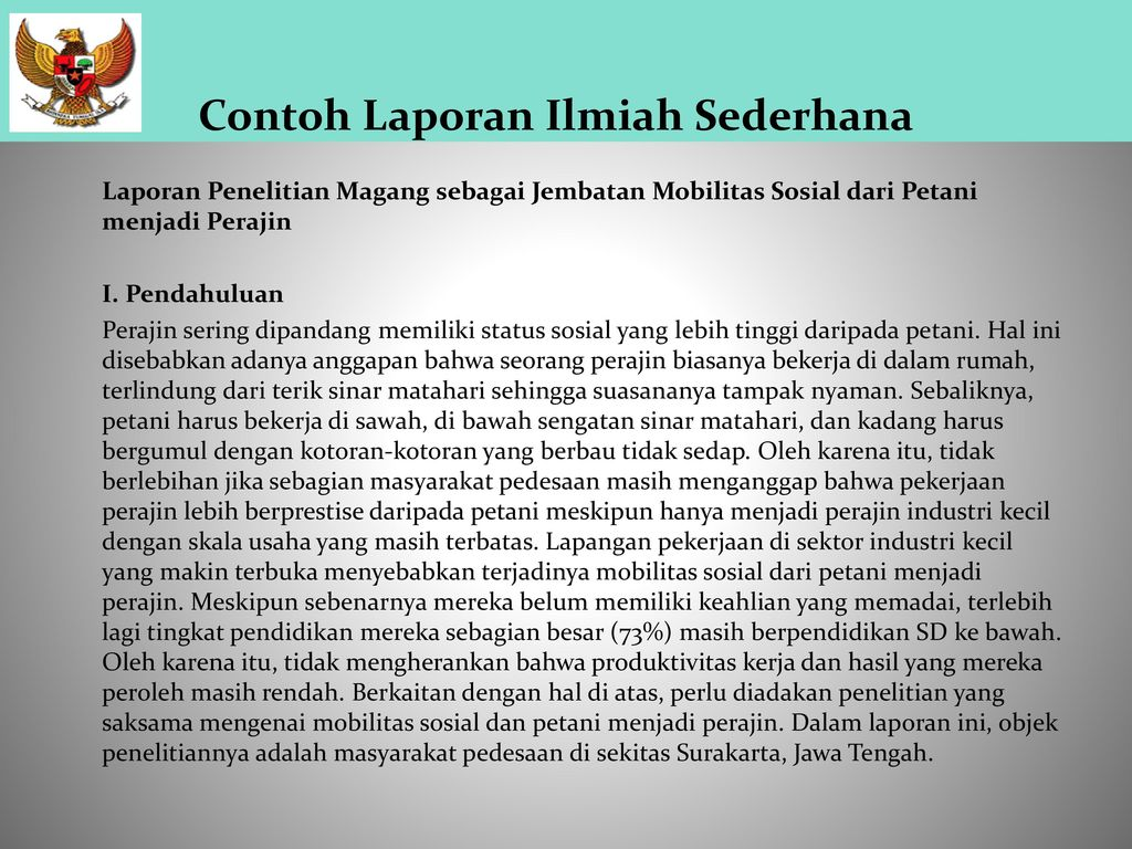 Laporan Ilmiah Oleh Siti Mardiana Rohkhimah Heny Wulandari Ppt Download